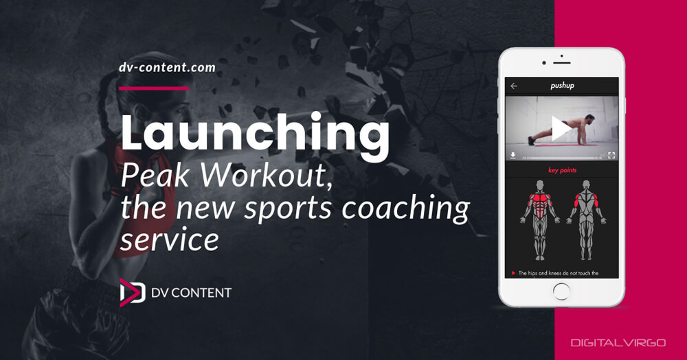 Mockup of Peak Workout App