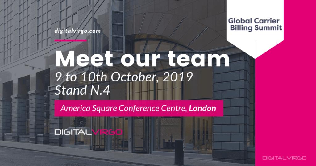 Global Carrier Billing Summit 2019 in London