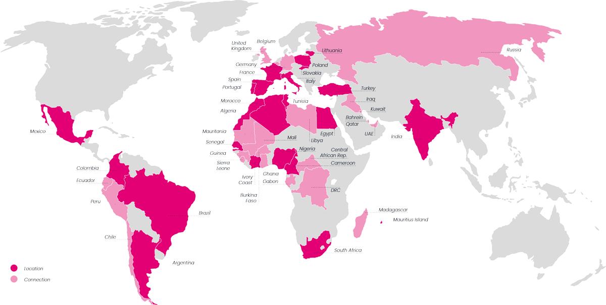 Mapa de localizaciones de Digital Virgo