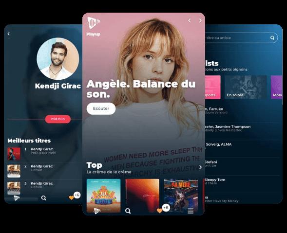 playUp mobile interface