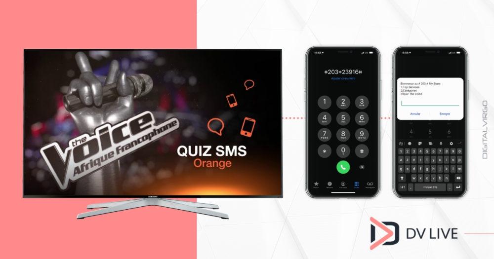 DV Live and The Voice Afrique Francophone for quizz
