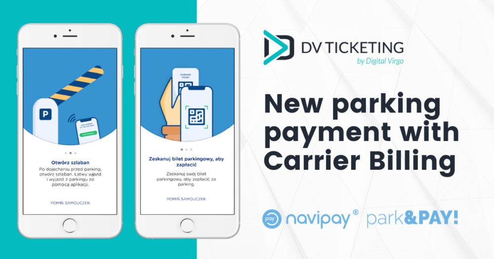 New parking payment way with Carrier Billing