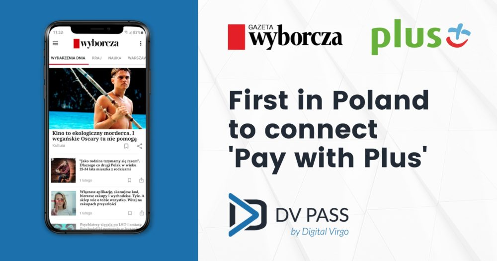 First in Poland to connect the service 'Pay with Plus'