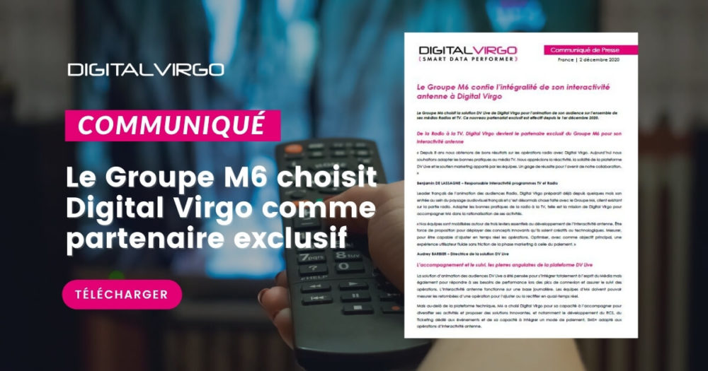 M6 confie son interactivité antenne à Digital Virgo