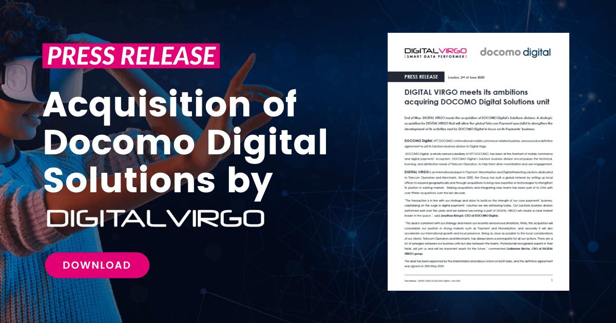 Acquisition of Docomo Digital Solutions