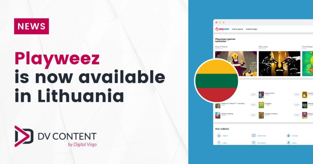 Digital Virgo žaidimų platforma Playweez dabar yra Lietuvoje. Mūsų DV Content komanda integravo paslaugą ir užtikrino jos trafiką dar vienoje šalyje.