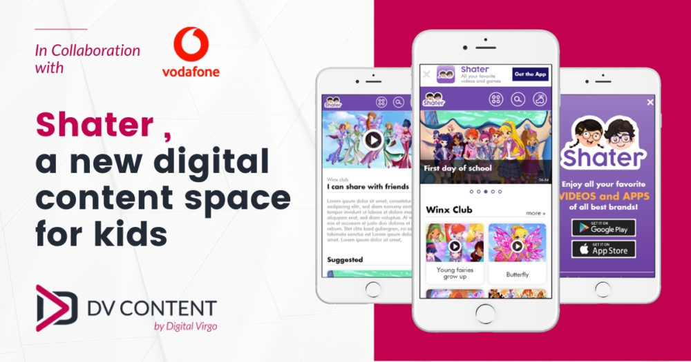 Shater, a new digital content space for Kids in partnership with Vodafone