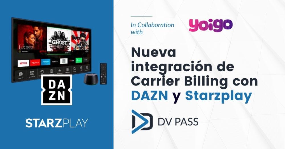 New DCB integration with Dazn & Starzplay