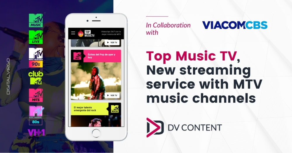 Top Music TV, new streaming service with MTV music channels