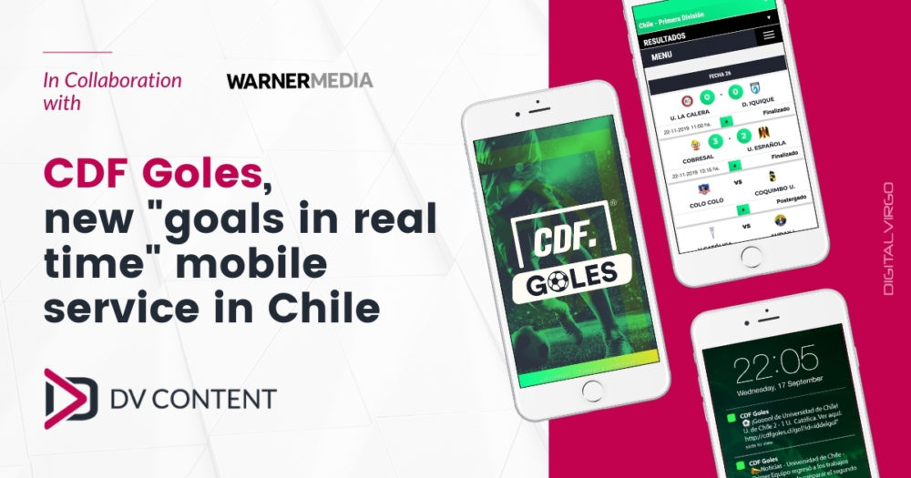 CDF Goles, new goals in real time mobile service in Chile