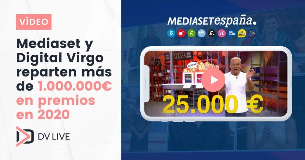 mediaset distribuye 1M € entre su audiencia de la mano de Digital Virgo