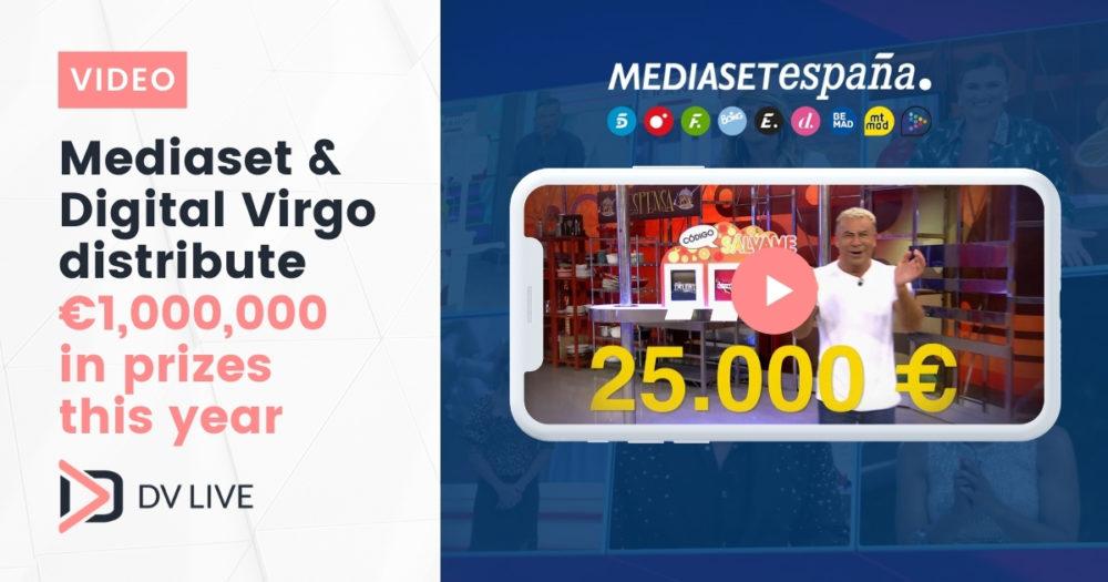 mediaset and digital virgo distribute 1 million € of prizes this year