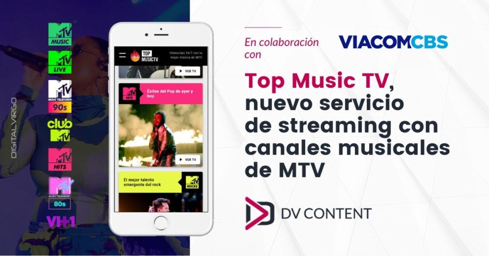 Top Music TV nuevo servicio de streaming con canales musicales de MTV