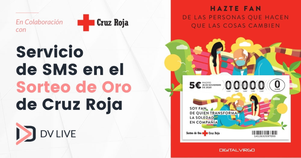 Digital Virgo provides SMS service to Red Cross in the Spanish Golden Draw
