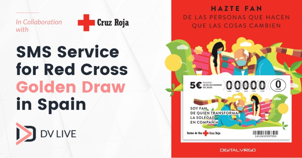SMS Service for Red Cross in the Spanish Golden Draw
