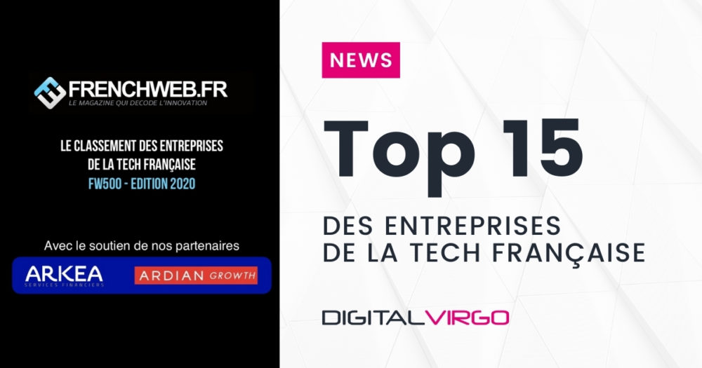 +6 pour Digital Virgo au classement FrenchWeb des 500 entreprises les plus influentes de la tech française