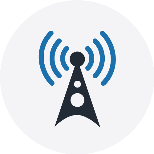 DCB icon on grey circle