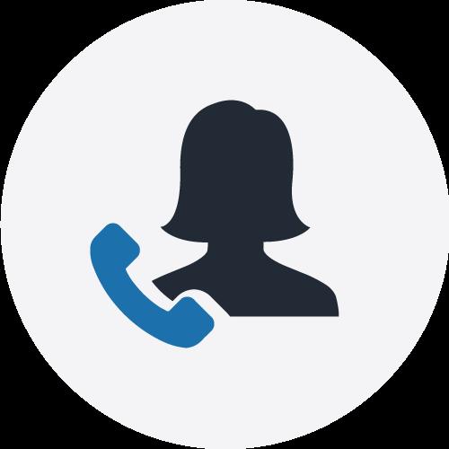 Voice icon on grey circle