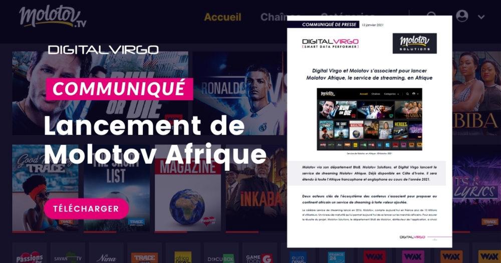 Digital Virgo et Molotov s'associent pour lancer Molotov Afrique