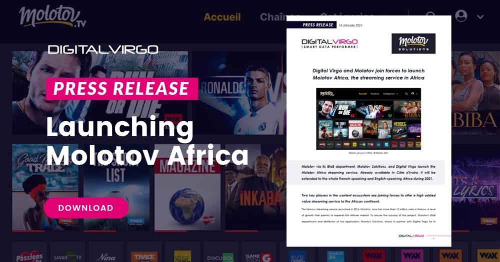 Digital Virgo and Molotov join forces to launch Molotov Africa, the streaming service in Africa