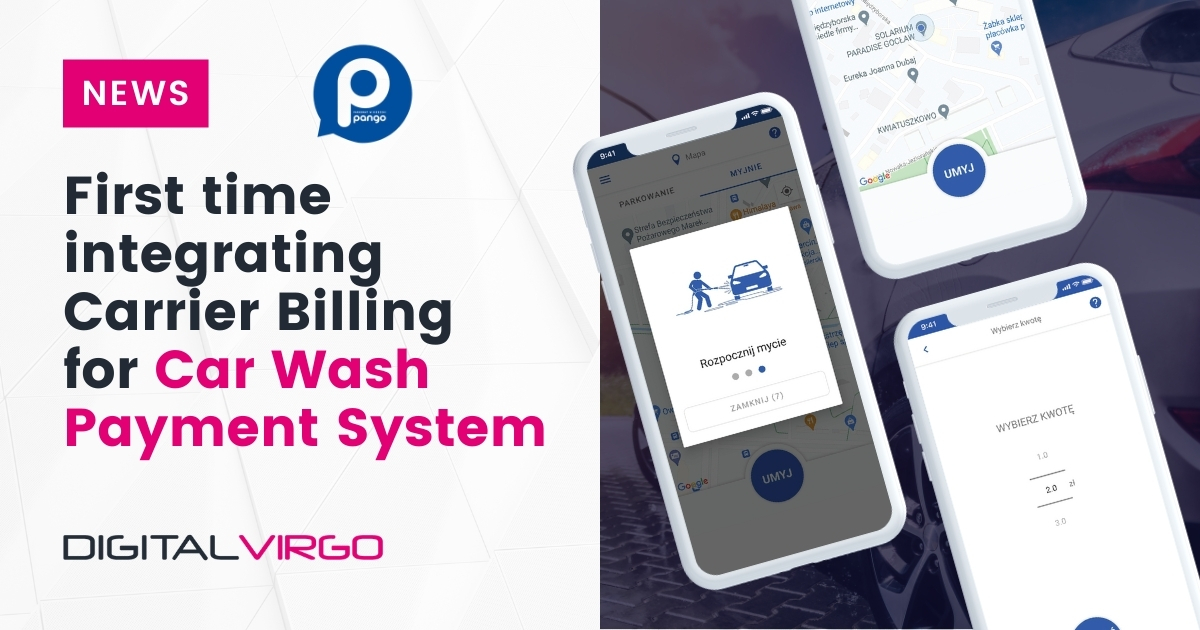 First time integrating carrier billing for car wash payment system